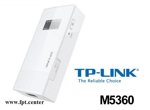 Thiết bị phát sóng WiFi 3G Tplink M5360 kiêm Pin sạc dự phòng