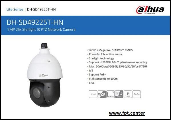 Camera Speed Dome IP Dahua SD49225T-HN Giá Rẻ