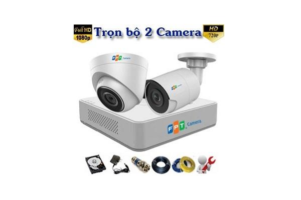Chi Phí Lắp Đặt Trọn Bộ 2 Camera Fpt cho Gia đình, Cửa hàng