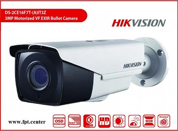 Camera HD-TVI Hikvision DS-2CE16F7T-IT3Z thân trụ thay đi
