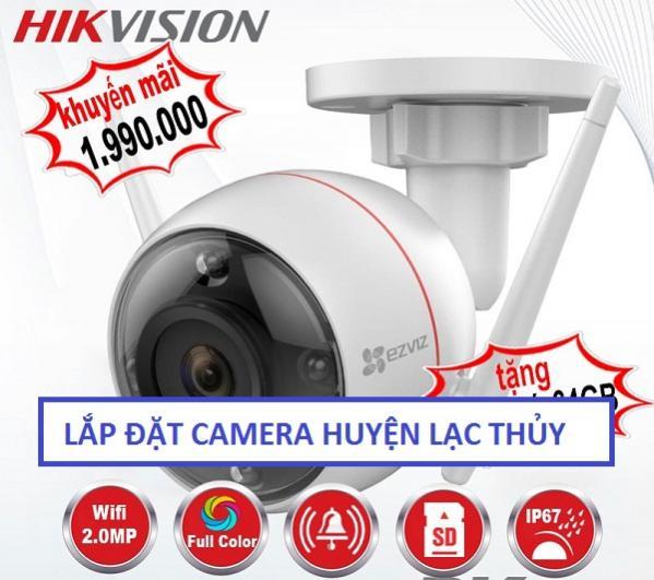Lắp đặt camera quan sát khu vực huyện Lạc Thủy giá rẻ