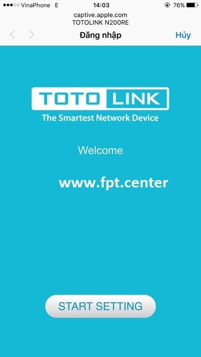 Hướng dẫn cách sử dụng wifi Totolink N200RE bằng điện thoại