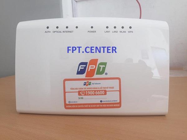Modem FPT ứng với gói cước cáp quang FPT mà khách hàng được trang bị