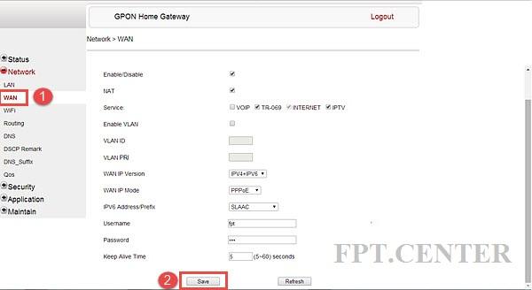 Hướng dẫn cấu hình modem Wifi FPT để truy cập mạng internet
