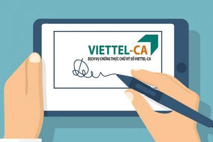 Chữ Ký Số viettel - CA - [ Bảng Báo Giá Năm 2020 ]