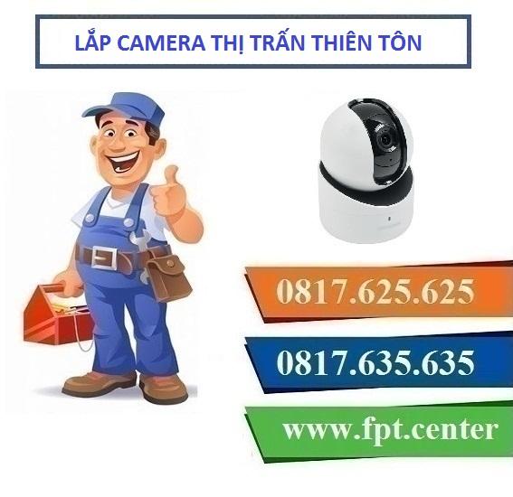 Lắp đặt camera giám sát khu vực thị trấn Thiên Tôn