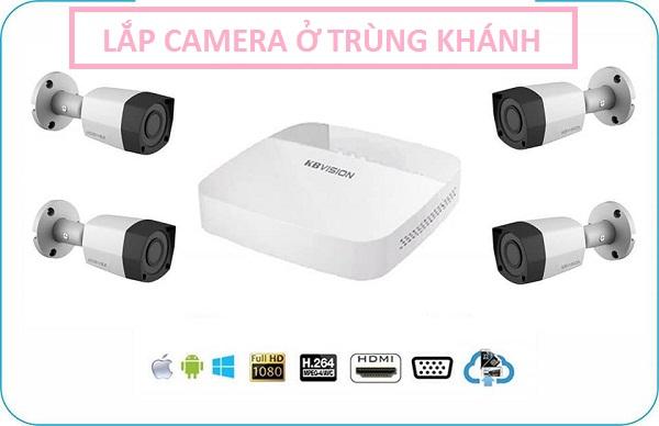 Lắp đặt camera huyện Trùng Khánh cho mục đích an ninh