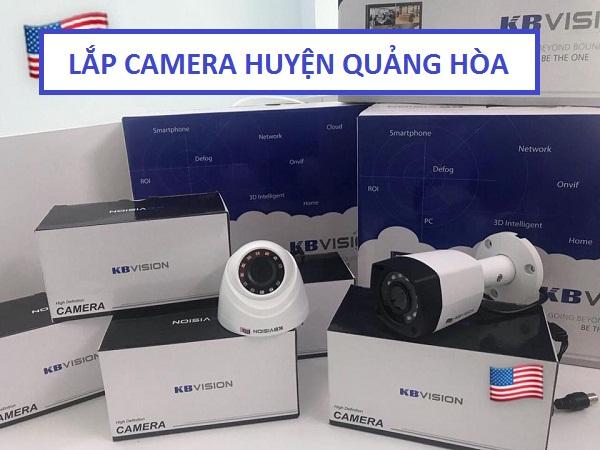 Lắp đặt camera chống trộm ở tại huyện Quảng Hòa
