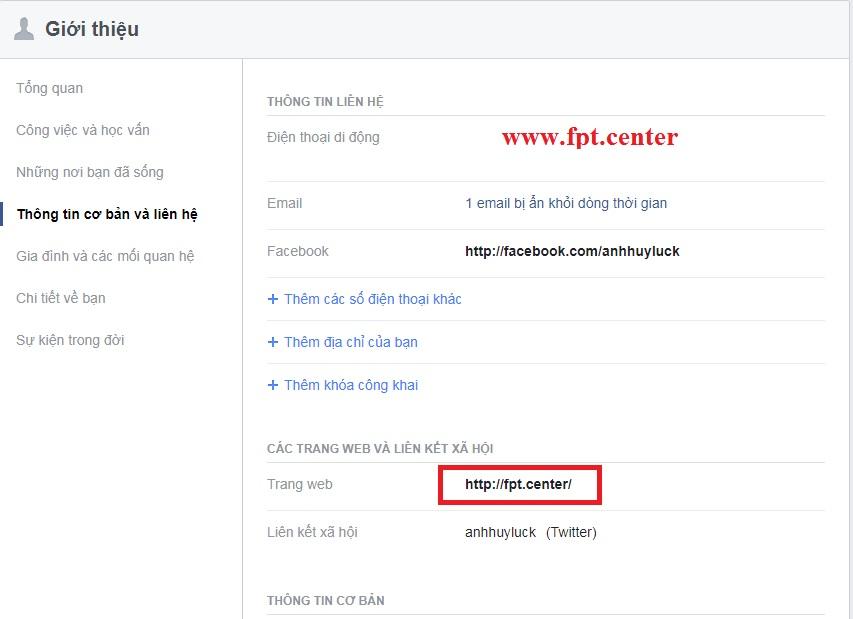 Cách Thêm Website vào Facebook Dùng Cho Việc SEO Website