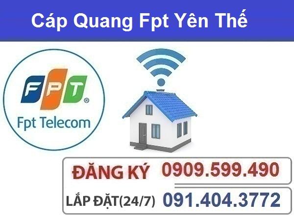 Đăng ký cáp quang Fpt huyện Yên Thế
