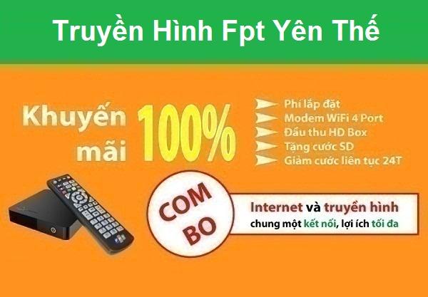 Đăng ký truyền hình Fpt huyện Yên Thế