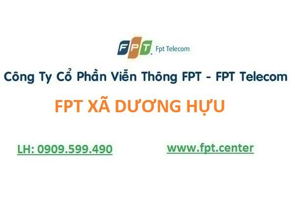 Lắp mạng wifi fpt xã Dương Hưu