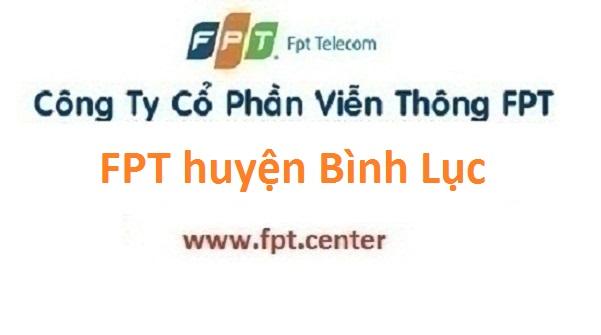 Lắp đặt mạng FPT huyện Bình Lục tỉnh Hà Nam
