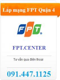 Lắp đặt mạng FPT quận 4 tặng ngay modem Wifi fpt quận 4 tốc độ cao