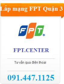 Đăng ký mạng internet FPT trên địa bàn FPT Telecom Quận 3 để nhận ngay nhiều ưu đãi lắp đặt cáp quang quận 3 hấp dẫn cho khách hàng khi đăng ký mới. Hotline tổng đài FPT Quận 3: 091.447.1125