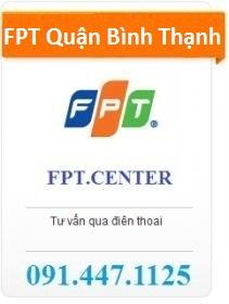 FPT Quận Bình Thạnh hiện đang khuyến mãi lắp đặt internet FPT Quận Bình Thạnh miễn phí cho khách hàng đồng thời các gói cước cáp quang FPT Quận Bình Thạnh hiện đang có giá rất rẻ cho khách hàng lắp mới. Hotline: 091.447.1125