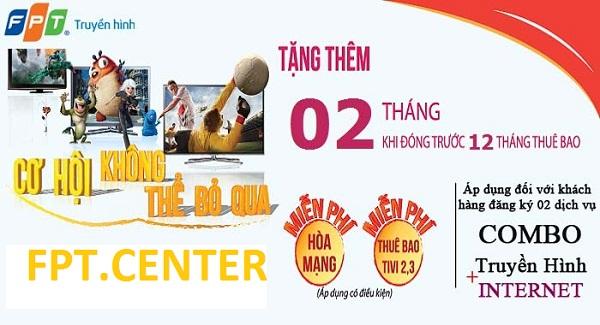 Lắp đặt truyền hình cáp FPT Hồ Chí Minh miễn phí đầu thu HD trị giá 2.500.000đ
