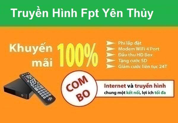 Đăng ký truyền hình Fpt huyện Yên Thủy