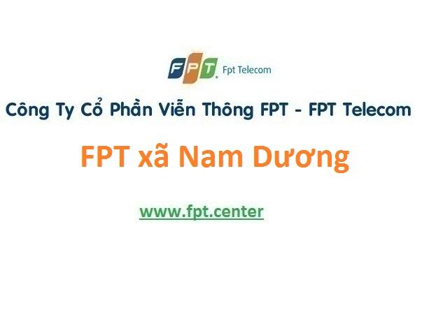 Lắp đặt internet FPT xã Nam Dương tại Nam Trực