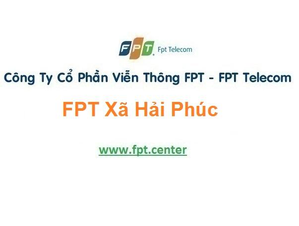 Lắp Đặt Mạng Fpt Xã Hải Phúc Ở Hải Hậu tại Nam Định
