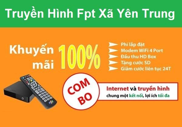Đăng ký internet và truyền hình Fpt Xã Yên Trung Ở Ý Yên tại Nam Định