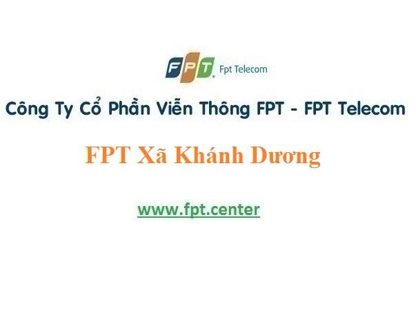 Lắp đặt mạng internet Fpt Xã Khánh Dương với giá khuyến mãi