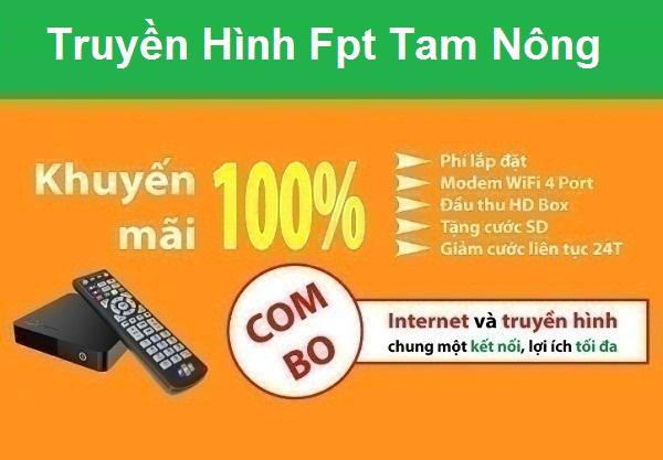 Lắp đặt truyền hình Fpt huyện Tam Nông