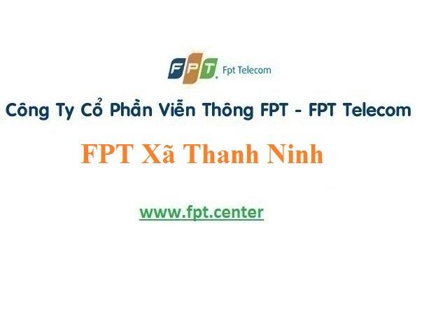 Lắp Đặt Mạng Fpt Xã Thanh Ninh Ở Phú Bình Giá Ưu Đãi
