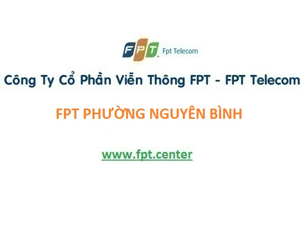 Lắp đặt internet fpt phường Nguyên Bình, tại Nghi Sơn Thanh Hóa