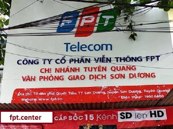 Phòng giao dịch Fpt huyện Sơn Dương ở tổ dân phố Quyết Tiến