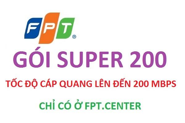 Gói cước cáp quang Super 200 của Fpt tốc độ nhanh kinh khủng