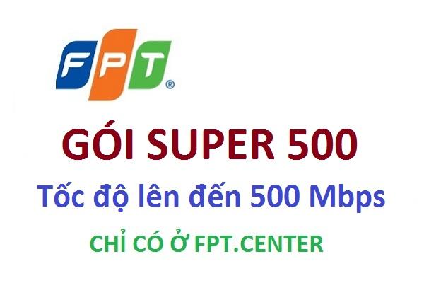 Gói cước cáp quang Super 500 của Fpt cho doanh nghiệp