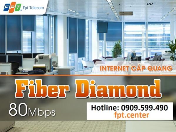 Gói cước cáp quang FPT Fiber Diamond 80 Mbps, lắp đặt cáp quang FPT gói cước Fiber Diamond
