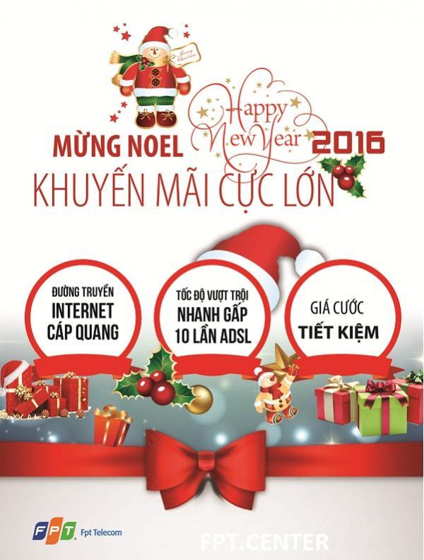 Khuyến mãi mừng Noel năm 2015 từ FPT telecom