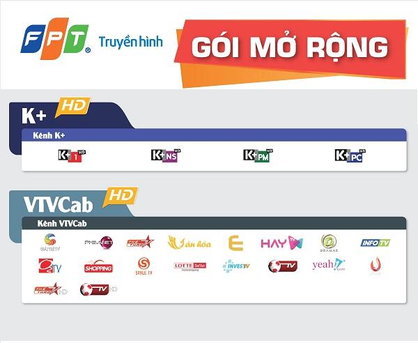 Danh sác kênh truyền hình fpt gói mở rộng
