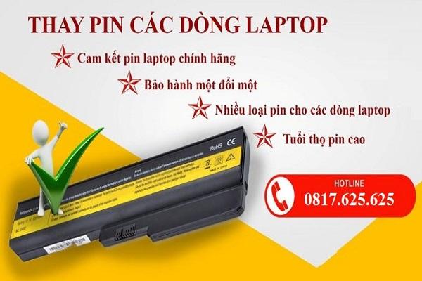 Thay Pin Laptpp Ở TPHCM Giá Rẻ Chính Hãng Uy Tín