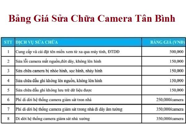 Dịch Vụ Sửa Chữa Camera Quận Tân Bình Nhanh - Bảo Trì Camera Giá Rẻ