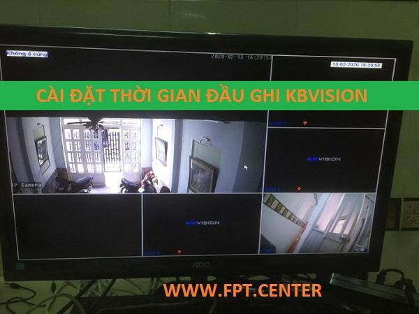 Hướng dẫn điều chỉnh thời gian trên đầu ghi hình Kbvision Camera