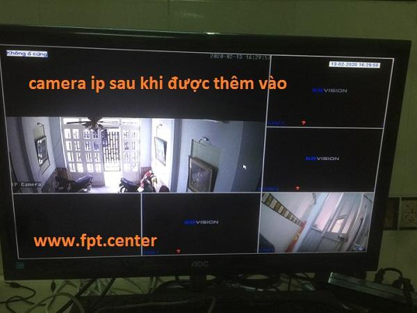 Gắn thêm 1 camera IP vào đầu ghi hình 4 kênh analog Kbvision