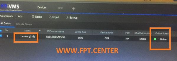 Phần mềm KBIVMS - hỗ trợ xem Camera KBVISION trực tiếp trên máy tính / laptop