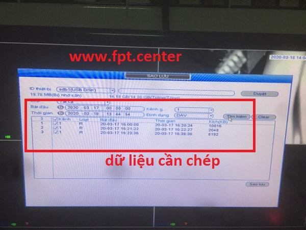 Hướng Dẫn Chép Dữ Liệu Từ Camera Kbvision ra USB và HDD Box