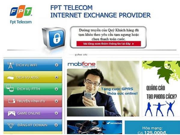 Gia hạn sử dụng internet FPT và truyền hình FPT khi bị khóa cước