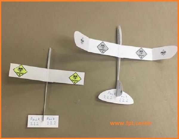Cách chế tạo mô hình máy bay bằng giấy để trang trí