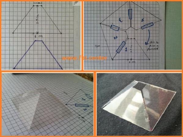 Chế tạo Kính kim tự tháp xem phim 3D ngay tại nhà