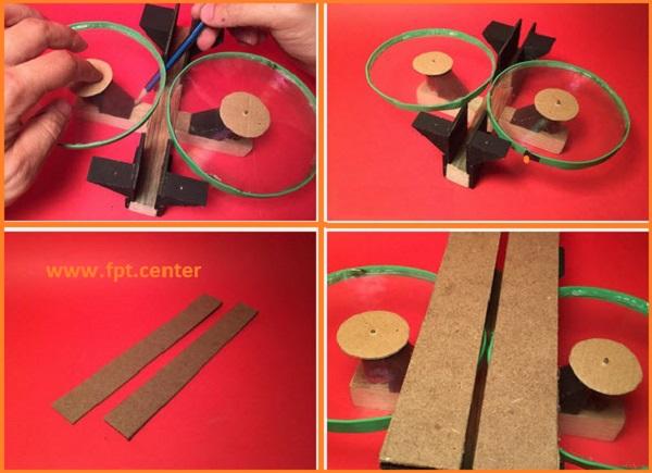 Cách chế tạo bệ phóng diều giấy với pin tiểu