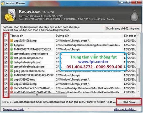 Cách Khôi Phục Dữ Liệu Đã Xóa Trên Ổ Cứng PC, USB, Thẻ Nhớ SD Miễn Phí