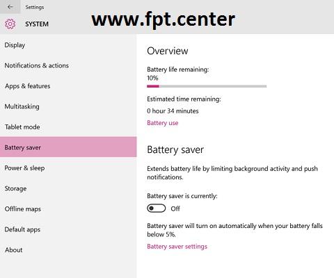 4 Cách Kéo Dài Thời Gian Sử dụng Pin Laptop chạy Windows 10