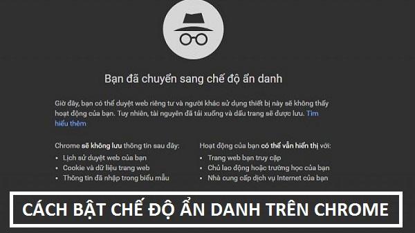 Bật chế độ ẩn danh mặc định trên Google Chrome