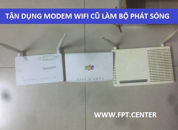 Tận dụng modem Fpt Vnpt Viettel Cũ làm bộ phát Wifi giá rẻ