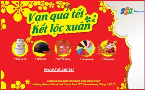 Mang Vạn Lộc Xuân đến cho khách hàng mới FPT telecom đầu năm